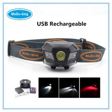 2017 new super 5 leds USB Rechargeable led headlamp 3W LED head lamp with AAA battery, fashional camping headlamp for outdoor