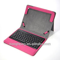 Wholesale blue teeth keyboard for ipad mini PU cover