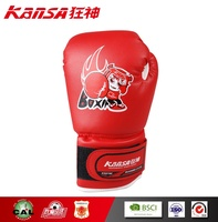 Kansa-0790 Light Blue Color Best Quality Could Customized Logo Children Boxing Gloves