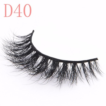 High Quality false eyelashes 3d Eyelash Extensions Manufacturers with custom private pack D40