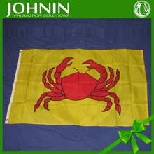 wholesale top quality polyester fabric 3X5 CRAB FLAG CRABS FLAG