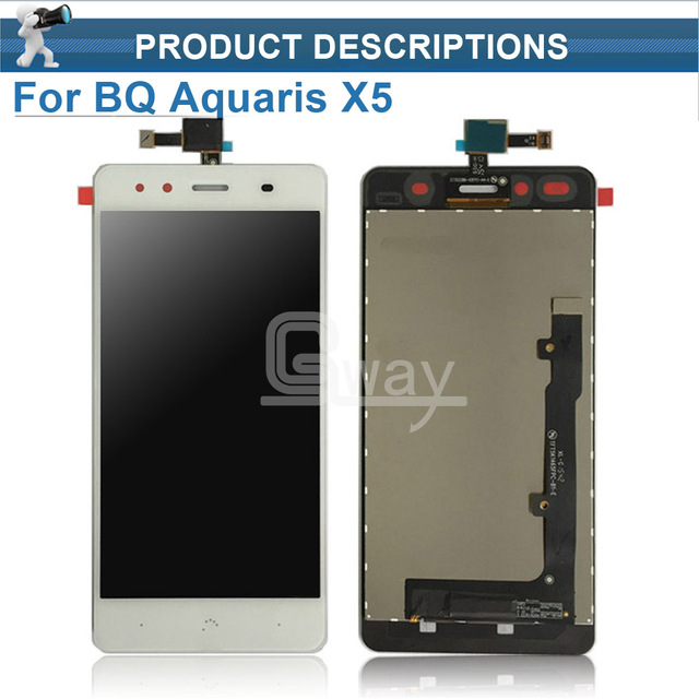 Original phone parts LCD Display Touch screen digitizer touchscreen panel sensor lens glass Assembly for bq Aquaris X5