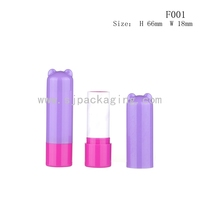 Empty lip balm tube for kids animal shape lip balm container promotional plastic lip balm tube