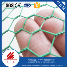 pvc coated hexagonal wire netting/hexagonal chicken rabbit cage mesh/hexagonal aviary wire
