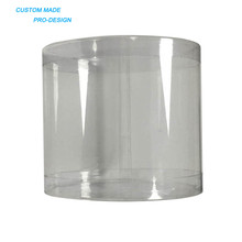Hot-selling custom size PVC plastic cylinder packaging cupcake boxes