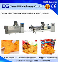 automatic fried nachos chips snack food extruder machine