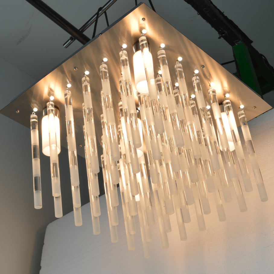 Alibaba manufacturers square light guangzhou chandeliers crystal