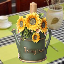 Decorative sunflower resin unique toilet paper holders