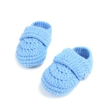 wholesale fashion new style unsex solid color knitted crochet baby shoes