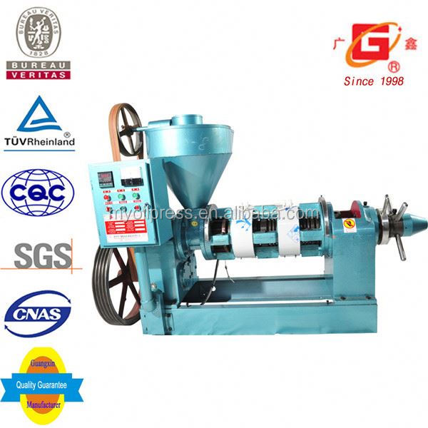 Home use cold pressed rubber seed oil extracting machinery small cold press machine