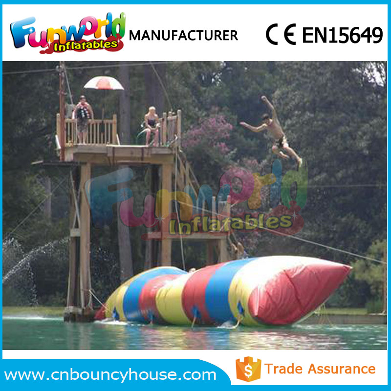 Adults Colourful water pillow catapult inflatable water blob