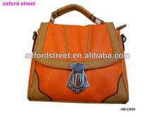Fashion PU orange desiger discount bag