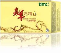 Timo Essence of Chicken + Cordyceps, 75ml, Halal,funtional food,Double Strength in 'Qi' Nourishment