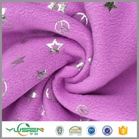 new design printed colorful bed sheet set polar fleece fabric for blanket made in usa