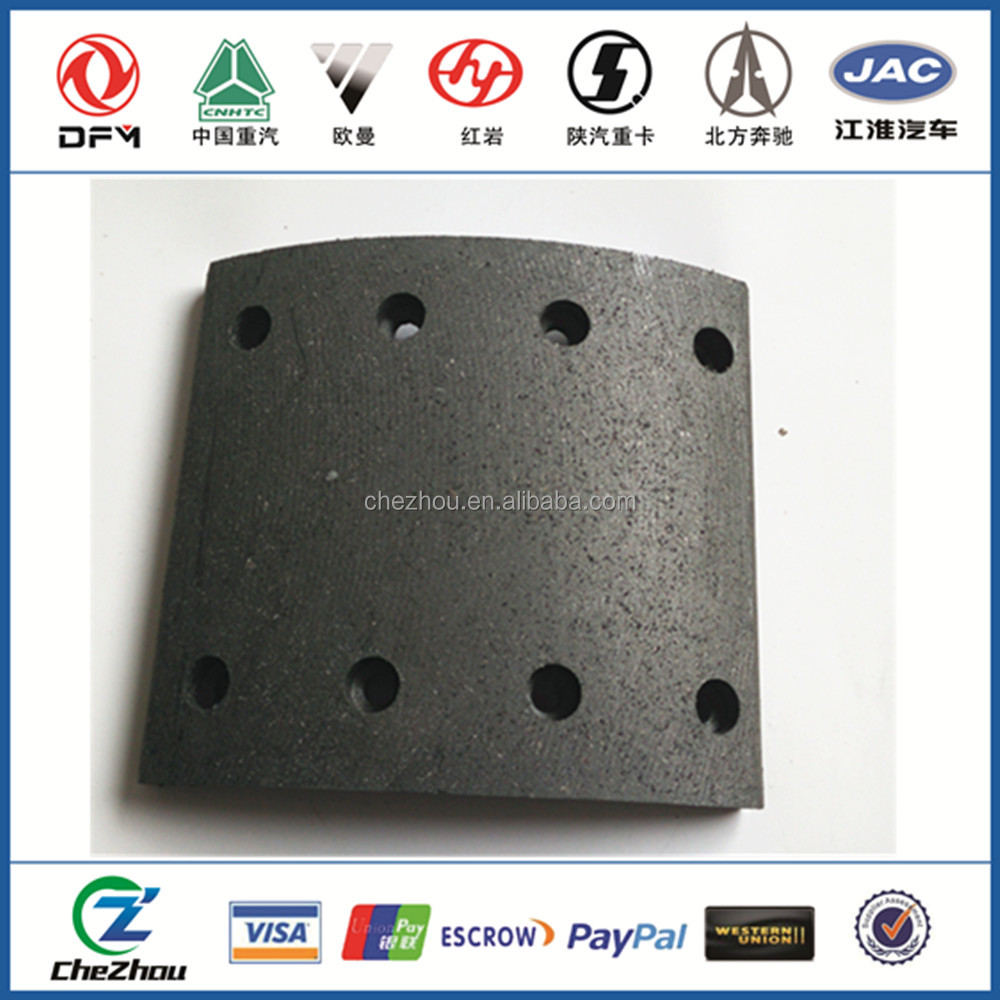 Dongfeng Truck Parts Brake Lining auto spare parts 3501ZB6-105 front brake lining