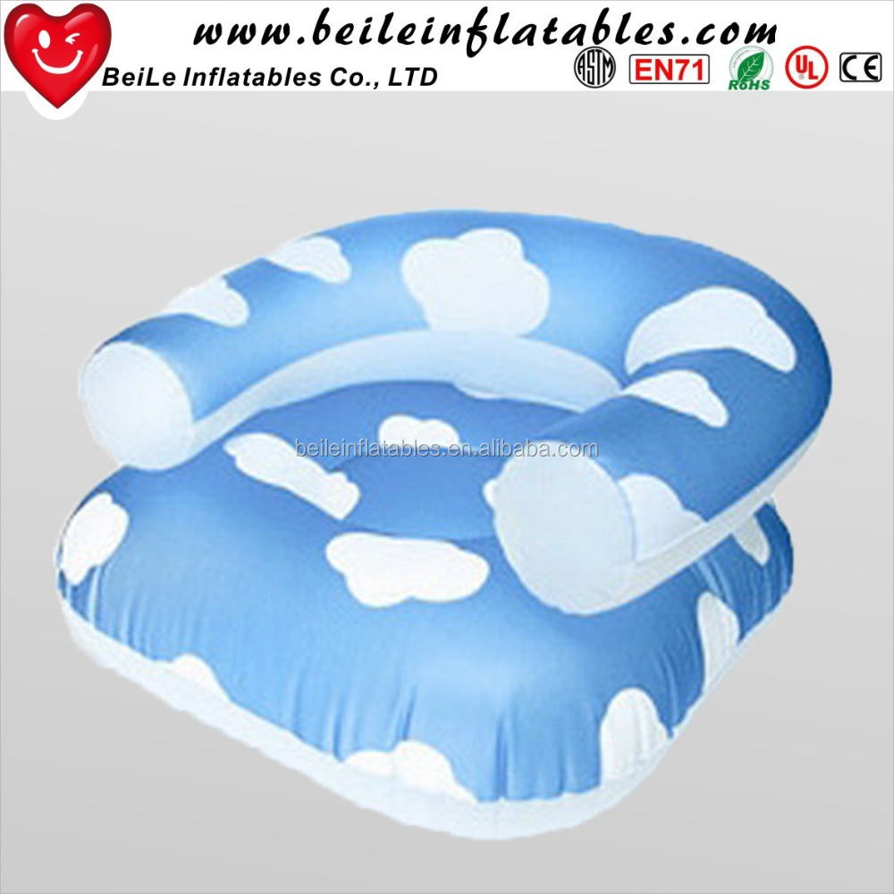 New design baby round air chair inflatable cartoon corner chair