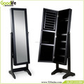 Mother's day gift bedroom furniture mirrored jewelry cabinet