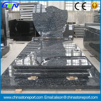 Royal Blue Pearl Granite Top Quality Headstones