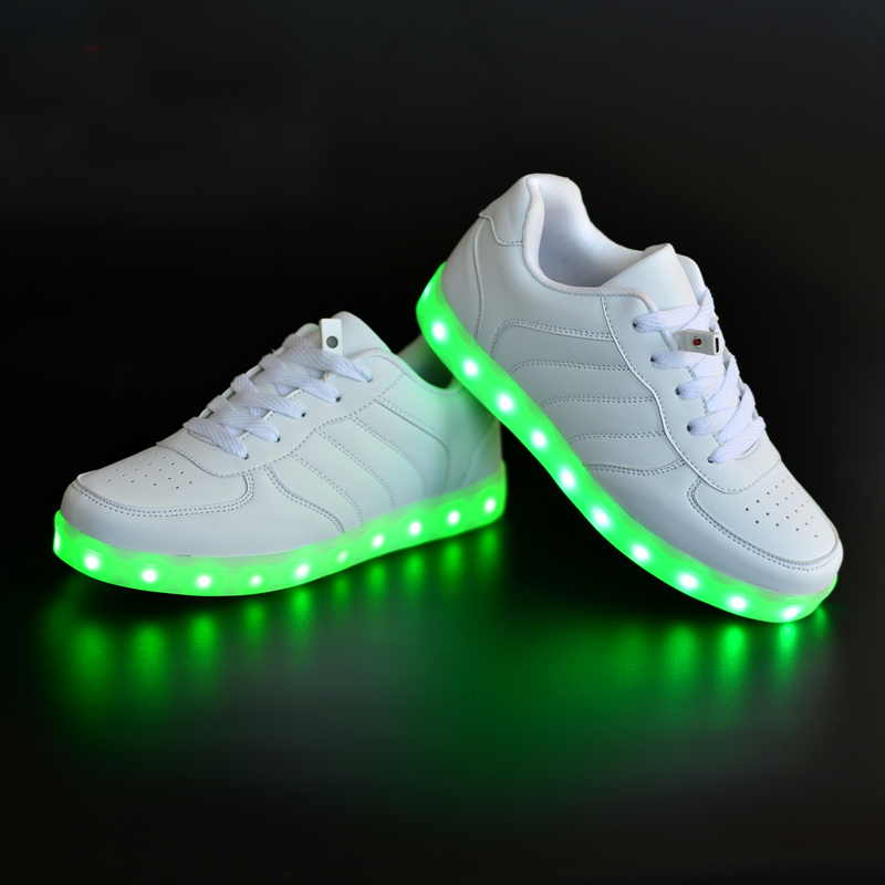 LED High Top Light Up Bling Flashing Fashion Sneakers Sports Shoes