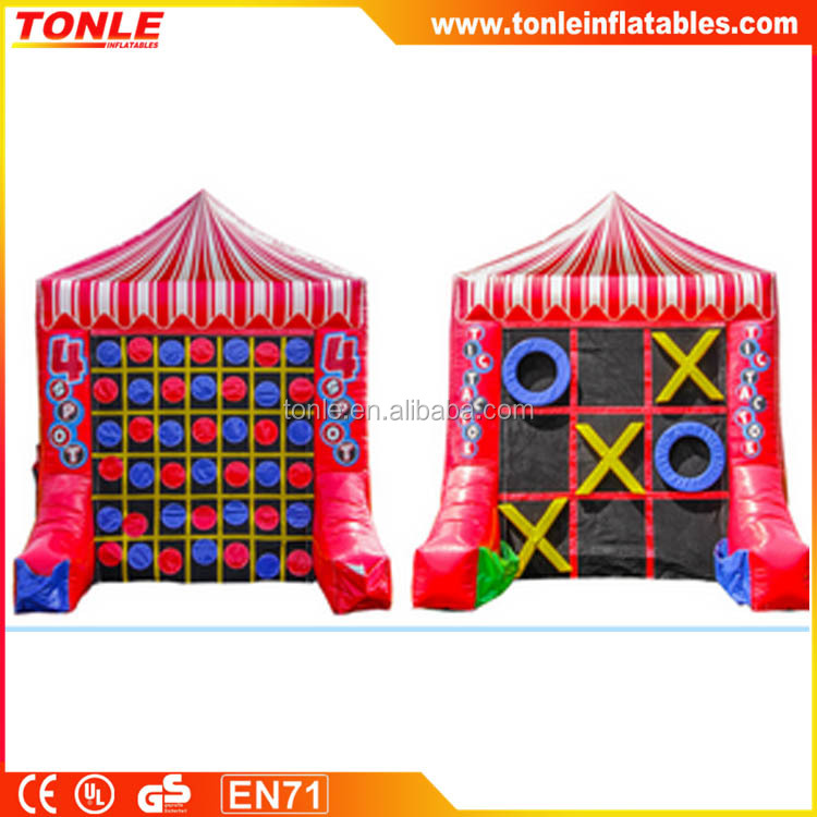 Outdoor Inflatable Tic Tac Toe Games for kids part, Inflatable Carnival Sports game for sale