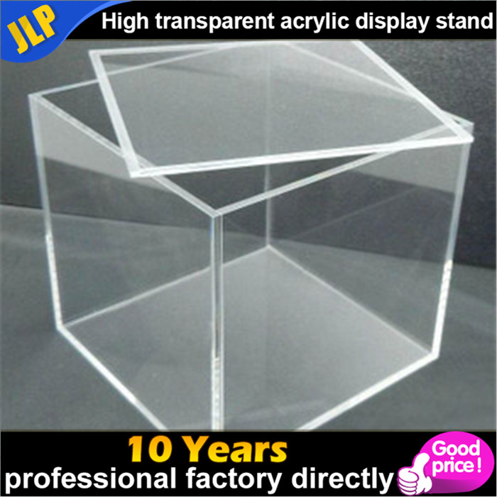 Customized cheap acrylic box display stand