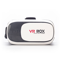 "VR BOX 2.0 Version Head Mount Plastic Virtual Reality Glasses 3D Game Movie for 3.5"" - 6.0"""