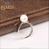 Global glaze new products promotional fashion jewelry beautiful women silver rings 925