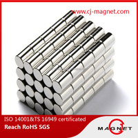 permanent type and customed cylinder neodymium magnet manufacturer in certified by ISO9001 ISO14001 TS16949