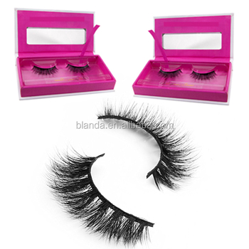 OEM Soft 3d silk lash strips private label individual mink eyelash extensions