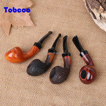 Logo Accept Factory Direct Wood Briar Tobacco Pipe China Wholesale Smoking Pipe