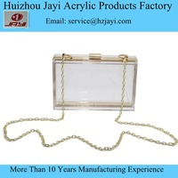 Acrylic lucite Perspex fancy latest design clear plastic purse