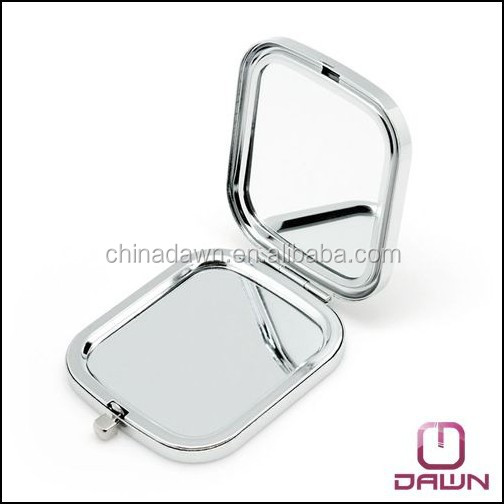 Luxury metal sqaure pocket mirror with epoxy doming factory CD-MG077