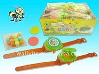 flying disk watch candy toy