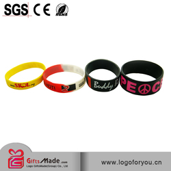 custom silicone manufacturers/sport silicone bracelet/custom silicone band
