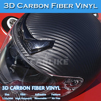 5x98FT 3D Carbon Fiber Sticker Self Adhesive Vinyl 3M Car Wrapping Film
