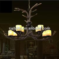 Indoor pendant lamp antler home light