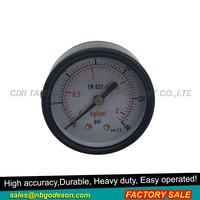 Portability Axial Bourdon Type Tube Pressure Gauge