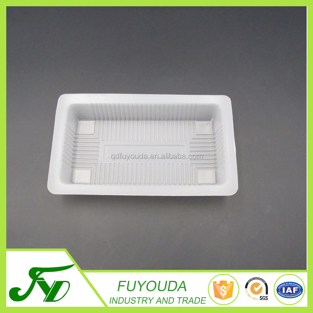 Low price white plastic frozen food container