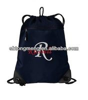 Custom Personalized Embroidered Monogrammed Cinch Sack Backpack Gift Travel Tote