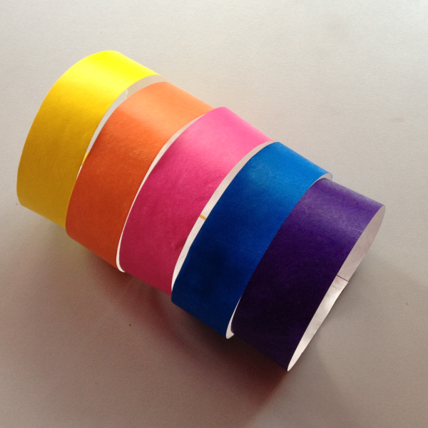 Disposable uhf H3 nfc ntag213 ntag215 PP paper fabric printing RFID wristband for medical identification