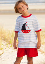 boy summer sailboat applique outfits