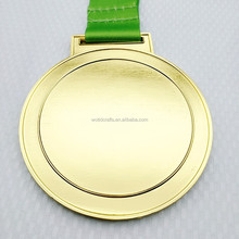 Custom Metal Gold Blank Running Award Sports Medal with Ribbon WM112