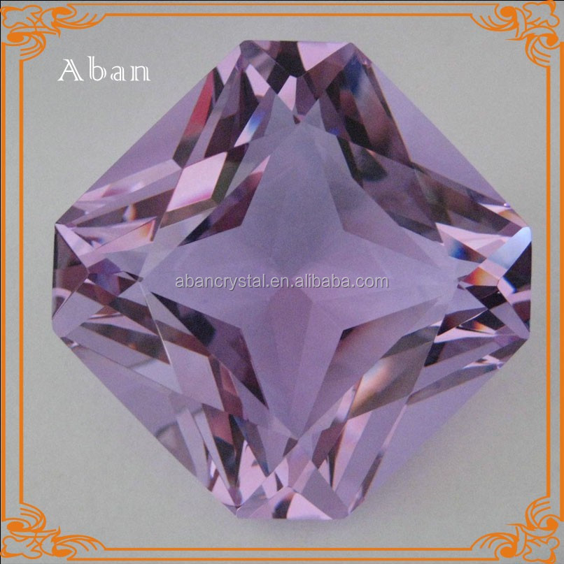 Square crystal purple color diamond ,crystal decoration