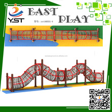 Plastic playground equipment curved slide for Kids Amusement,tube climb