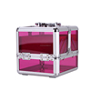 Professional arcylic and aluminum cosmetic case