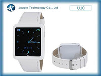 Joupie-U10 2015 fashion smartphone partner for man and woman, Bluetooth smart watch with compass and speaker