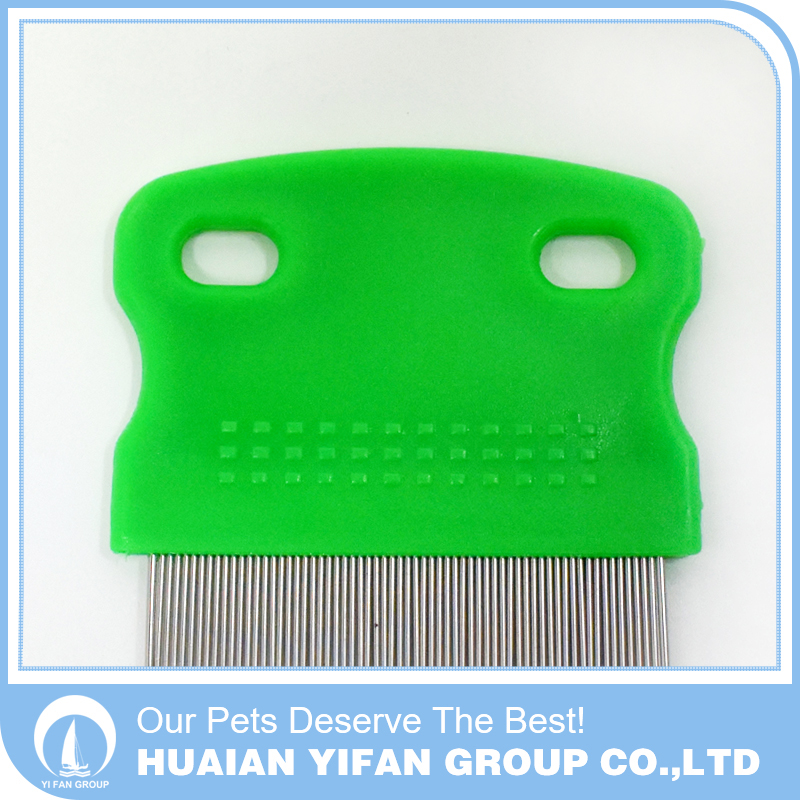 Hot Selling removing pet dog cat flea comb with plastic handle
