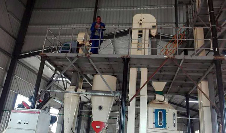 automatic chicken 1-5t/h complete animal feed pellet production line for sale