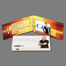 artificial handmade 2.4 inch video greeting card,video business card