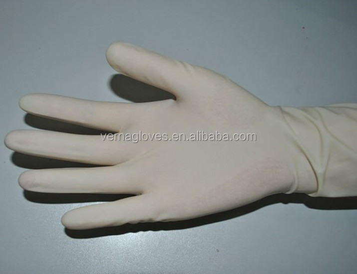 medical equipment textured powdered CE ISO AQL1.5 Disposable Sterile Latex Surgical Gloves